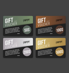 gift card design in black with colored abstract vector image
