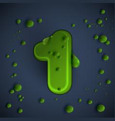 green slime font vector image
