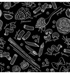 hand drawn pasta pattern vector image