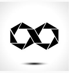 hexagon infinity logo sign vector image
