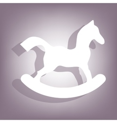 Horse toy icon Flat related icon vector