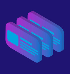 id card icon isometric style vector image