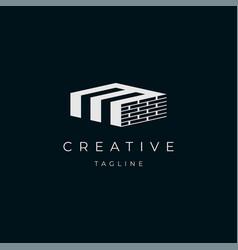 initial letter m building logo vector image