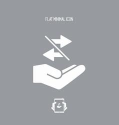 Interchange service - minimal icon vector