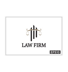 Law firms icons and logos justice vector