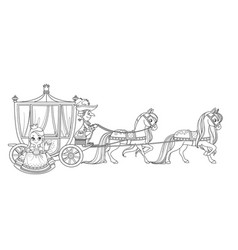 little princess gets out carriage vector image