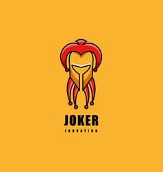 logo joker simple mascot style vector image