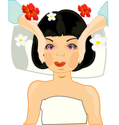 making look younger girl on massage of the person vector image