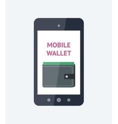 Mobile wallet concept vector