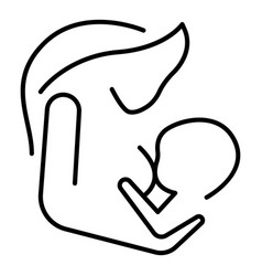 mother breast feeding icon outline style vector image
