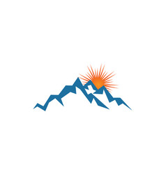 mountain logo design template vector image
