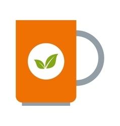 Mug of green tea icon flat style vector