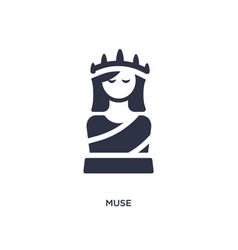 Muse icon on white background simple element from vector