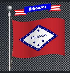 National flag of arkansas vector