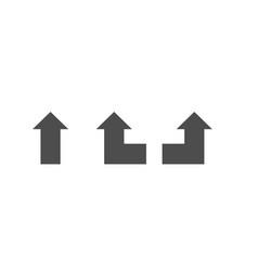 navigational sharp turn left right go straight vector image