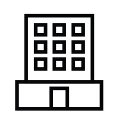 office building icon with outline style vector image