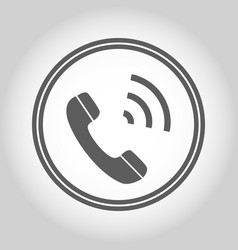 phone isolated flat web mobile icon sign symbol vector image