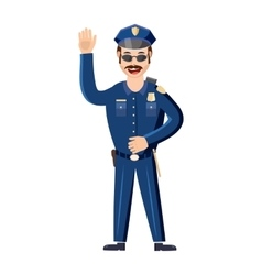 Policeman icon in cartoon style vector image