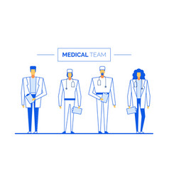 Practitioner surgeon medical team clinic staff vector