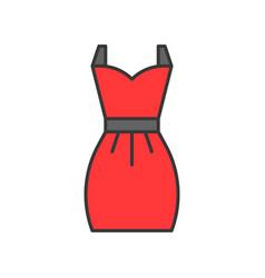 red short dress filled color outline editable vector image