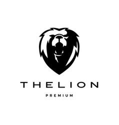 roaring lion head logo icon vector image