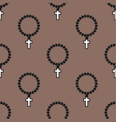 Seamless cross pattern abstract background vector