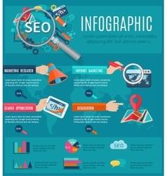 Seo Infographics Set vector