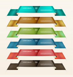 Set of ribbons modern infographics options banner vector