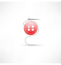 sewing needle icon vector image