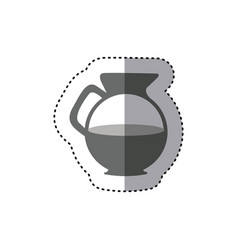 sticker monochrome silhouette glass jar of coffee vector image