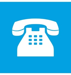 Telephone white icon vector image