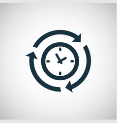 time arrow icon for web and ui on white background vector image