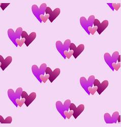valentines hand drawn gradient pattern-04 vector image