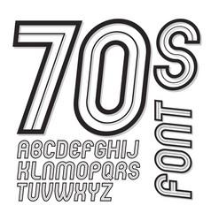 vintage creative script cool alphabet letters set vector image