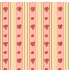 Vintage rose and stripes pattern for wallpaper vector image