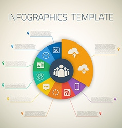 Web infographic timeline pie template layout vector