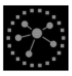 white halftone links diagram icon vector image