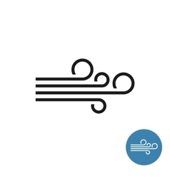Wind icon Simple black linear style vector image