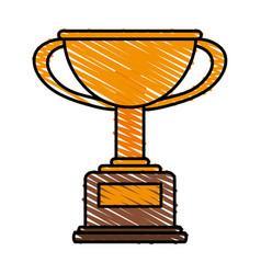 Winner trophy flat vector