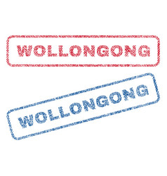 Wollongong textile stamps vector