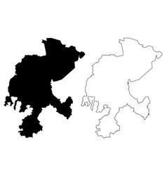 Zacatecas map vector