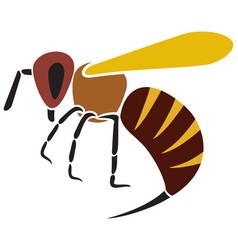 angry bee vector image