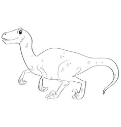 animal outline for wild dinosaur vector image vector image