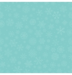 Blue Subtle Winter Snow Flakes Doodle Seamless vector image vector image