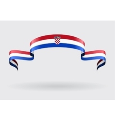 Croatian flag background vector image vector image