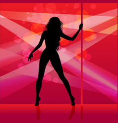 pole dancer girl vector image vector image