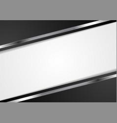 Tech dark background with metallic stripes vector image vector image