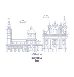 ljubljana city skyline vector image