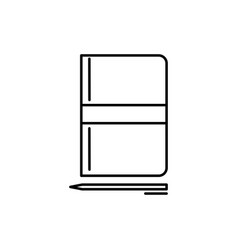 notebook with pen icon vector image vector image