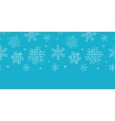 Blue lace snowflakes textile horizontal border vector image